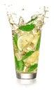 Lemonade with splash Royalty Free Stock Photo