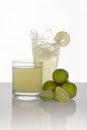Lemonade splash on white background Royalty Free Stock Photo