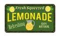 Lemonade vintage rusty metal sign