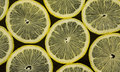 Lemons on black background fruits citrus fresh Stock Images