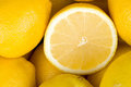 Lemons closeup background Stock Image
