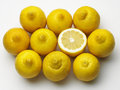 Lemons tasty ripe lemon background top view Royalty Free Stock Photos