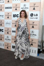 Lena dunham los angeles feb arrives at the film independent spirit awards at beach on february in santa monica ca Royalty Free Stock Photos