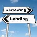 Lend or borrow. Stock Photo