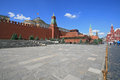 Lenin mausoleum and Moscow Kremlin Stock Photography