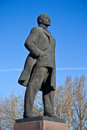 Lenin monument of vladimir in the town odintsovo moscow area Stock Images