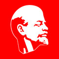 Lenin red and white picture Royalty Free Stock Image