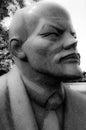 Lenin sculpture memento park hungary soviet era cubist granite of at Royalty Free Stock Photo