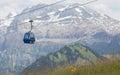 Lenk im Simmental, Switzerland - July 12, 2015: Ski lift in moun