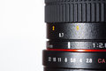 Lens detail photography of profesional photo Stock Photos