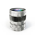 Lens glass photo on a white background Royalty Free Stock Image