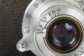 Lens of old camera Royalty Free Stock Photo
