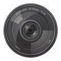Lens photo camera vector illustration isolated on white background Royalty Free Stock Photo