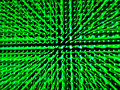 Lens zoom technic on green led panel abstract background Royalty Free Stock Photo
