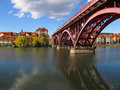 Lent And Old Bridge, Maribor, Slovenia Royalty Free Stock Photo
