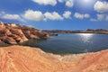 Lente de fisheye tomada foto el lago powell Imagen de archivo
