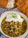 Lentil, cereal and bean soup Royalty Free Stock Photo