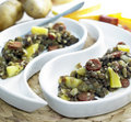 Lentil with potatoes Royalty Free Stock Photo