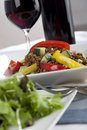 Lentil Salad with Wine Stock Photo