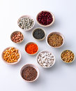 Lentils and beans Stock Photography