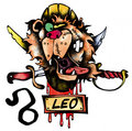 Leo illustration Royalty Free Stock Photos