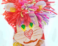 Leo lion children homemade cardboard toy made of s hack Royalty Free Stock Photos