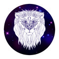 Leo zodiac sign, horoscope symbol, vector illustration Royalty Free Stock Photo