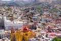 Aereal view of downtown Leon Guanajuato Mexico city Royalty Free Stock Photo
