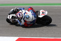 Leon Haslam BMW S1000 RR - BMW Motorrad Motorsport Royalty Free Stock Photo
