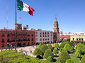 Leon mexico image of main plaza and downtown wich includes plaza de los martires goverment buildings cathedral hotels and churches Royalty Free Stock Photography