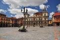 Leon, Spain. Central square Stock Photo
