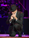 Leonard Cohen performs on stage at Sportarena Royalty Free Stock Photography