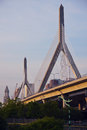The Leonard P. Zakim Bunker Hill Memorial Bridge Stock Photo