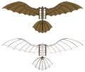 Leonardo da Vinci Flying Machine Vector Royalty Free Stock Photo