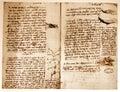 Leonardo's engineering drawing Royalty Free Stock Photo
