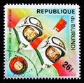 "Leonov and Kubasov, ""Apollo–Soyuz"" Space Project serie, ci Royalty Free Stock Photo"