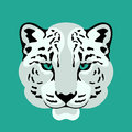 leopard head vector illustration style flat