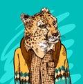 Leopard in a jacket