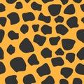 Leopard seamless pattern. 80s style.
