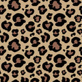 Leopard skin hand drawn. animal print drawing. Seamless Pattern. Vector Illustration. Royalty Free Stock Photo