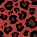 Leopard skin hand drawn. animal print drawing. Seamless Pattern. Vector Illustration. Royalty Free Stock Photo