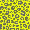 Leopard skin print seamless pattern background. Animal fur spot abstract camouflage texture Royalty Free Stock Photo