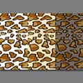 Leopard skin seamless pattern on gray background. Animal print.