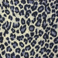Leopard spots background with fabric texture Royalty Free Stock Images