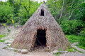 Lepenski vir serbia may reconstruction of the world famous mesolithic house at archaeological site on may Stock Image