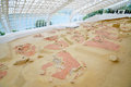 Lepenski vir serbia may roofing of the world famous mesolithic archaeological excavations on may is located on the Stock Photos