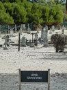 Leper graveyard robben island in prison Royalty Free Stock Image