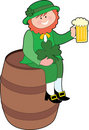 Leprechaun on a Beer Keg Royalty Free Stock Photos
