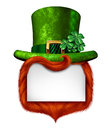 Leprechaun Blank Sign Royalty Free Stock Images