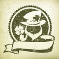 Leprechaun circle logo grange Royalty Free Stock Photo